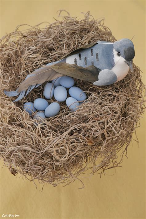 how to make a birds nest for xmas tree diy dollar store bird s nest decor create pray