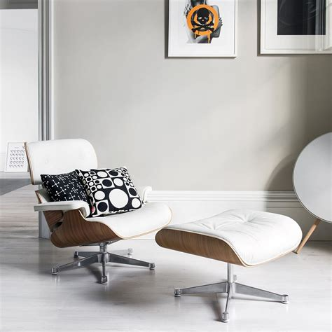 Buy Eames Lounge Chair by Buy Vitra Lch Eames Lounge Chair Ottoman Snow Amara