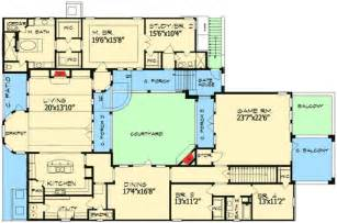 european home plan with central courtyard 36847jg