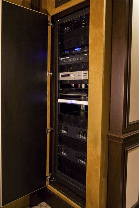 Home Theater Closet home theater media closet built in theater room completed projects theater home