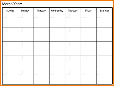 blank monthly school calendars 11 blank calendar month xavierax