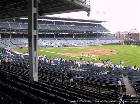 section 237 a 1 b wrigley field section 233 seat views seatgeek