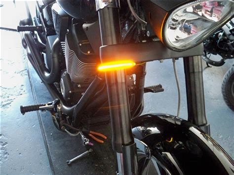 sportster light turn signal combination victory hammer motorcycle 56mm led fork mounted wrap