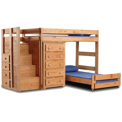 L Shaped Bunk Bed With Desk Berg Space Saver L Shaped Bunk Bed With Desk And Stairs Reviews Wayfair