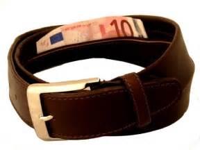 ceinture porte billets en cuir