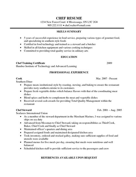 chef career objective chef resume objective resume ideas