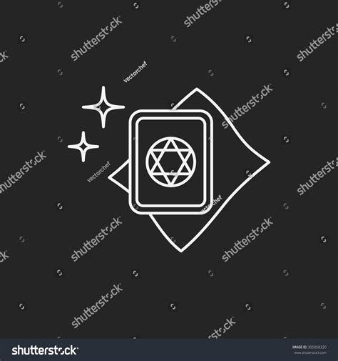 magic card template eps magic card line icon stock vector 305058320