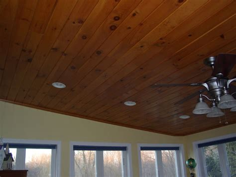 Pine Beadboard Ceiling by Sunroom Knotty Pine The Ceiling Looks With White