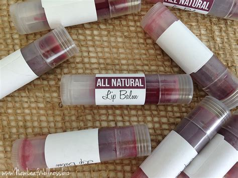 Handmade Lip Balm - 100 bath and products made with essential