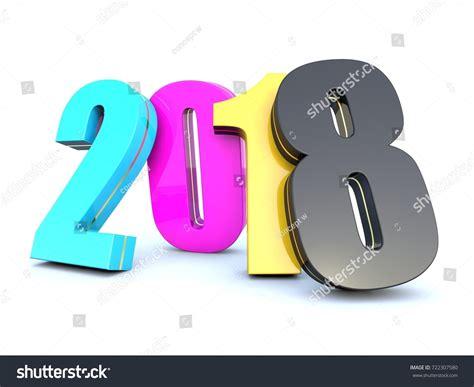 new year cmyk happy new year 2018 cmyk colors stock illustration