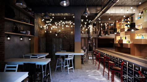 cafe design rustic cafe with clever lighting painted concrete floor and