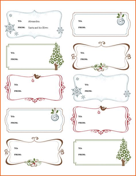 6 Microsoft Word Christmas Templates Bookletemplate Org Gift Tag Template Word