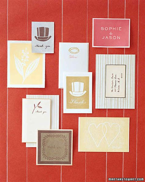 ink block print thank you cards martha stewart