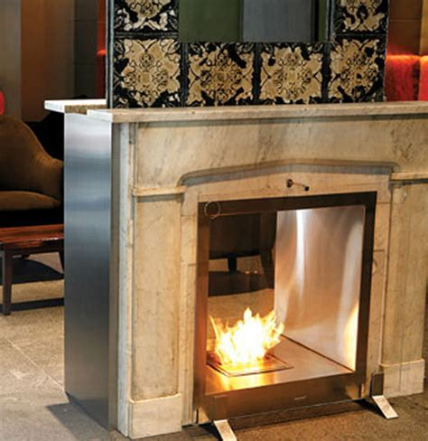 Two Way Fireplace Insert by Gallery Category Eco Friendly Fireplaces Image