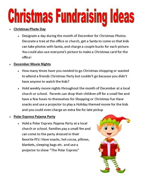 ideas for holiday fundraisers generated by relaychat