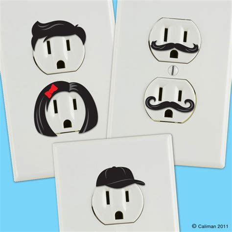wall sticker outlet creative outlet stickers give electric wall outlets personality