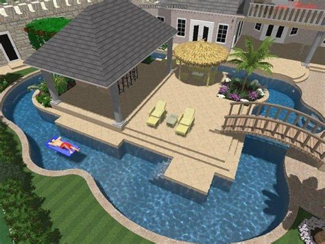 sims 3 backyard ideas middle deck swimming pool great idea bridge from