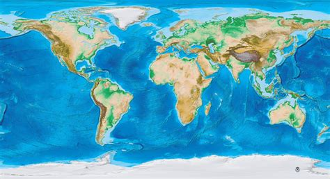 topographic map of the world earth s topography and bathymetry no labels