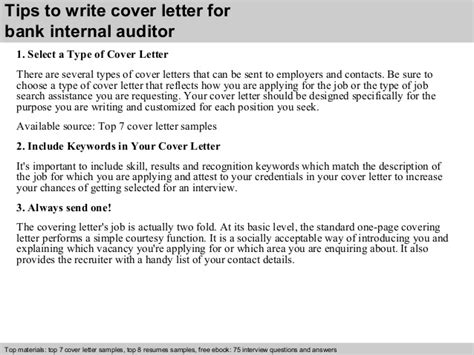 Sample Of Job Resume Application by Bank Internal Auditor Cover Letter