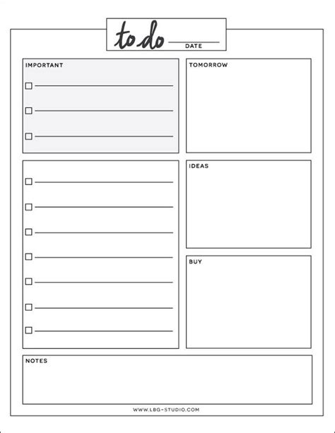 To Do List Demenagement by Daily To Do List Filofax Organisation