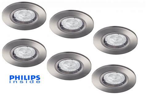 philips led inbouwspot dimbaar philips set van 6 stuks led inbouwspot 4 3w 50w dimbaar