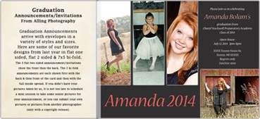 graduation announcements alling photography