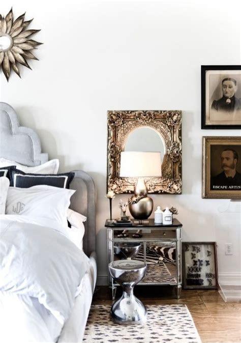 idea for wood metal mix decorations como decorar o quarto com criado mudo espelhado