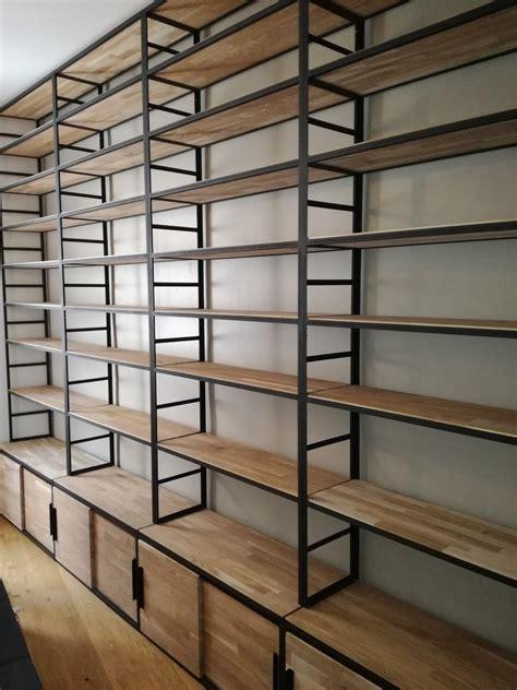 etagere bibliotheque bois metal idees de decoration interieure french decor