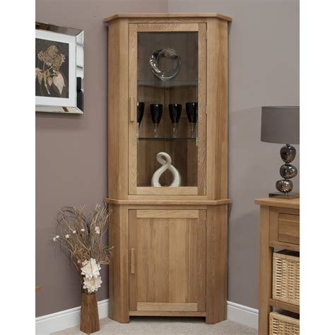 Corner Cabinets Living Room by Eton Solid Oak Living Room Furniture Corner Display