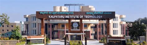 Colleges Of Bangalore For Mba by Kalpataru Institute Of Technology Kit Bangalore Kit