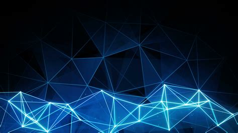 Light Wall Colors by Glowing Blue Polygon Background Computer Generated