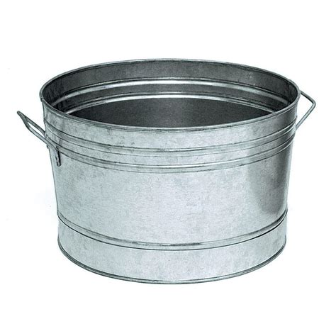 shop achla designs galvanized steel tub at lowes