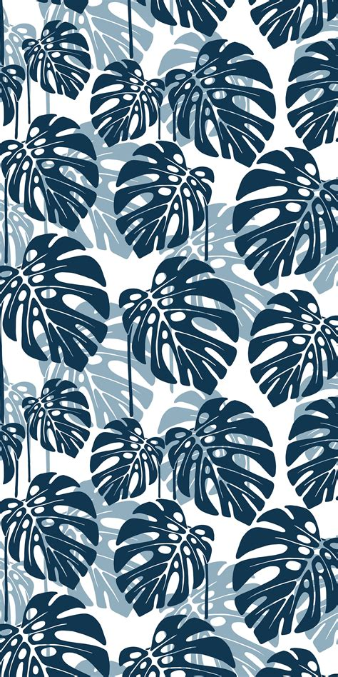 pattern tropical vector seamless tropical leaf pattern vector illustration
