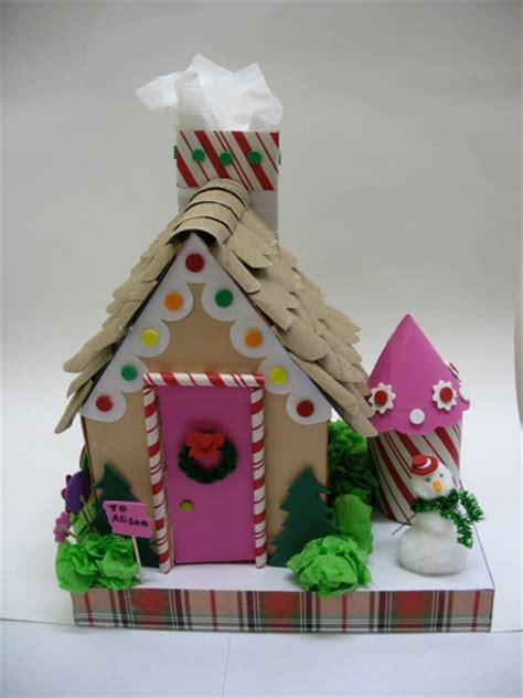 How To Make A Gingerbread House Out Of Paper - how to make a gingerbread house out of cracker boxes