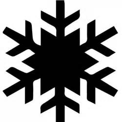 simple snowflake silhouette wall sicker creative multi