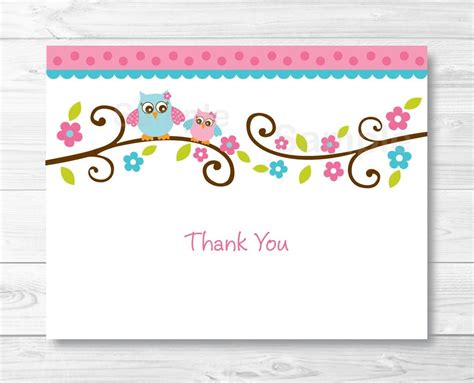 Printable Foldable Thank You Cards Journalingsage Com Folded Thank You Card Template