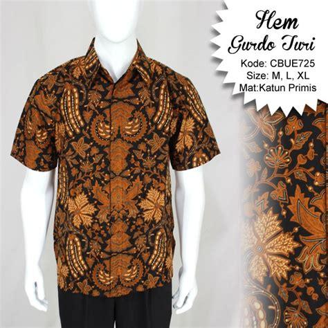 Batik Pendek 2 kemeja pendek batik baturaden motif gurdo turi kemeja