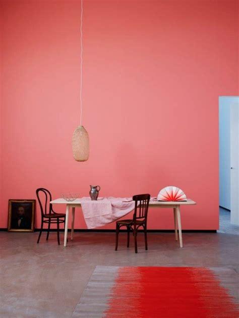 pastelltöne wandfarbe wohnzimmer design rot