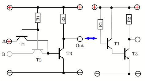 transistor and gate working logic gates homofaciens