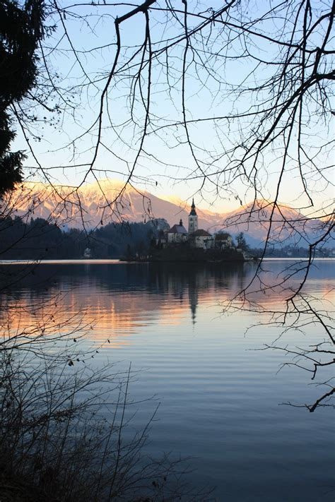 row boat to bled island lake bled is glorious in winter travel tr