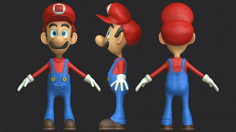 super mario  model turbosquid