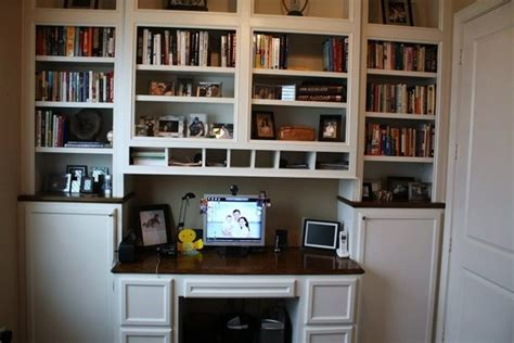 built in desks and bookshelves 38 best images about basement projects on