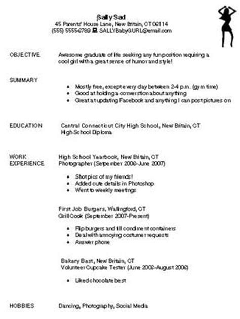 Bad Resume Exles For Highschool Students bad resume education world