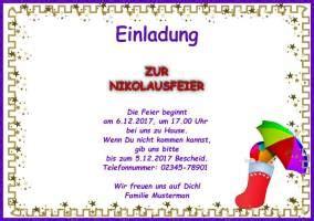 Muster Einladung Nikolausfeier Einladung Nikolaus Animefc Info