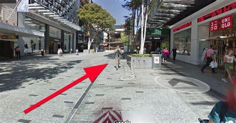 google street view captures man swearing  camera