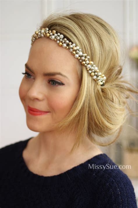 gatsby hair party 1920 updo with headband google search cumplea os 25