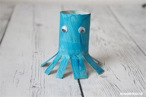 Octopus Toilet Paper Roll Craft - toilet paper roll octopus craft