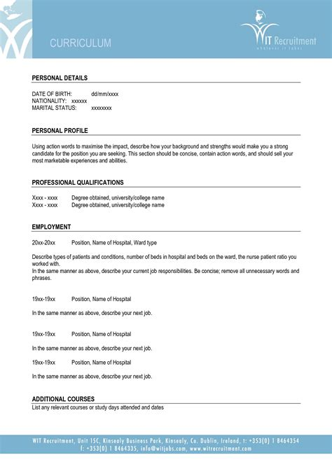 Resume Template Word Basic Download Free Fillable Blank Cv