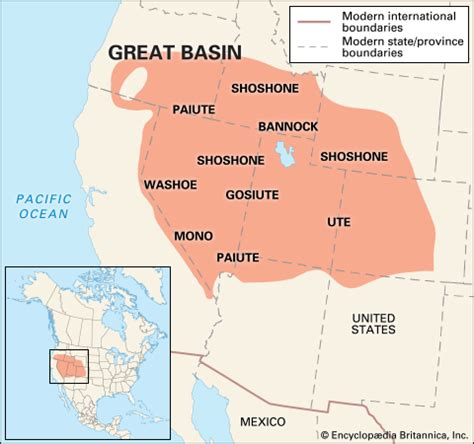 great basin on us map great basin indians location encyclopedia