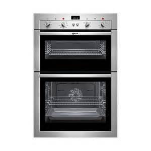 bevelled glass door neff u14m42n3gb built in double fan oven